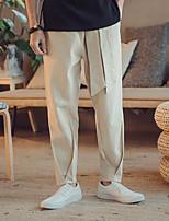 Недорогие -Муж. Гарем Сплетенные брюки Черный Хаки Виды спорта Сплошной цвет Брюки Фитнес Тренировка в тренажерном зале Большие размеры Спортивная одежда Легкость Дышащий Быстровысыхающий Слабоэластичная