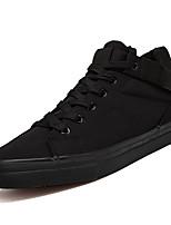 Недорогие -Муж. Комфортная обувь Полотно Весна На каждый день Кеды Нескользкий Белый / Черный