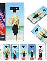 Недорогие -Кейс для Назначение SSamsung Galaxy Note 9 Защита от удара / Движущаяся жидкость / Ультратонкий Кейс на заднюю панель Соблазнительная девушка Мягкий ТПУ для Note 9