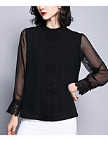 Недорогие -женская блузка азиатского размера - цветная круглая шея
