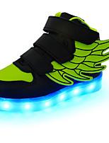 Недорогие -Девочки Обувь Полиуретан Весна Обувь с подсветкой Кеды На липучках / LED для Синий / Розовый / Черный / зеленый