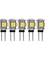 Недорогие -5 шт. 2 W 100 lm G4 Двухштырьковые LED лампы T 5 Светодиодные бусины SMD 5050 Милый Тёплый белый / Холодный белый 12 V