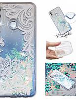 Недорогие -Кейс для Назначение Huawei Huawei Mate 20 Lite / Huawei Mate 20 Pro Движущаяся жидкость / С узором / Сияние и блеск Кейс на заднюю панель Кружева Печать / Сияние и блеск Мягкий ТПУ для Huawei Honor