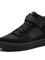 Недорогие -Муж. Комфортная обувь Полотно / Полиуретан Весна На каждый день Кеды Нескользкий Черный / Серый / Военно-зеленный