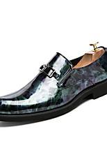 Недорогие -Муж. Официальная обувь Полиуретан Весна Классика / Английский Мокасины и Свитер Дышащий Черный / Желтый / Синий / Свадьба / Для вечеринки / ужина