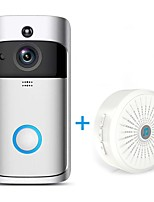 Недорогие -HQCAM Smart Wireless Wifi doorbell Camera Intercom Door Bell Video doorbel Call Apartments IR Max support 32G TF +Wireless chime 1 mp IP-камера Крытый Поддержка 0 GB