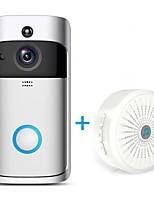 Недорогие -hqcam® беспроводной wifi дверной звонок камера 1.0 мп умный Wi-Fi видео-домофон встроенный динамик для квартир и будильник