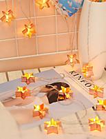 Недорогие -3 м 20 светодиодов железо искусство пентаграмма огни строка личности творческий декоративные огни розовое золото скандинавские огни флеш рождество