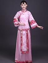 Недорогие -Взрослые Жен. Китайский дизайн В китайском стиле Оса-Waisted Cheongsam Назначение Выступление Помолвка Девичник Винилон Длинный Чонсам