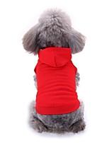 baratos -Cachorros Colete Roupas para Cães Sólido Branco Vermelho Preto Terylene Ocasiões Especiais Para Corgi Beagle Buldogue Primavera Verão Masculino Feminino Casual Estilo simples