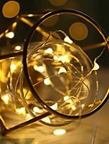 Недорогие -1m Гирлянды 10 светодиоды Тёплый белый / Холодный белый / RGB Для вечеринок / Декоративная / Свадьба Аккумуляторы 1шт
