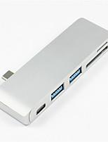 Недорогие -5 USB-концентратор USB 3.1 Type C USB 3.0 / USB 3.1 Type C Экстраполятор Центр данных