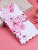 Недорогие -Кейс для Назначение Apple iPhone XS / iPhone XS Max Кошелек / Бумажник для карт / со стендом Чехол Цветы Твердый Кожа PU для iPhone XS / iPhone XR / iPhone XS Max