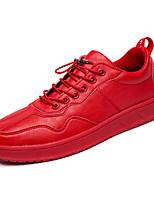 Недорогие -Муж. Комфортная обувь Полиуретан Весна На каждый день Кеды Дышащий Черный / Красный
