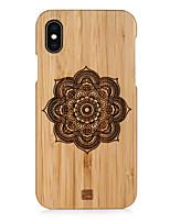 Недорогие -Кейс для Назначение Apple iPhone XS Max / iPhone 6 Рельефный Кейс на заднюю панель Мультипликация Твердый деревянный для iPhone XS / iPhone XR / iPhone XS Max