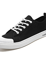 Недорогие -Муж. Комфортная обувь Полотно / Полиуретан Весна На каждый день Кеды Нескользкий Черный / Серый