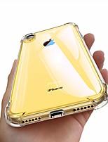 Недорогие -Кейс для Назначение Apple iPhone XR Защита от удара / Прозрачный Кейс на заднюю панель Однотонный Мягкий ТПУ для iPhone XS / iPhone XR / iPhone XS Max
