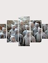 Недорогие -С картинкой Роликовые холсты Отпечатки на холсте - Известные картины История Современный Modern 5 панелей