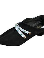 Недорогие -Жен. Полиуретан Весна Минимализм Обувь на каблуках На толстом каблуке Заостренный носок Черный / Красный / Контрастных цветов