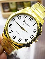 Недорогие -Муж. Спортивные часы Кварцевый Золотистый Повседневные часы Аналого-цифровые Элегантный стиль - Золотистый