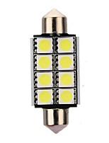 Недорогие -4шт 42mm Автомобиль Лампы 3 W SMD 5050 8 Светодиодная лампа Внутреннее освещение Назначение Универсальный / Volkswagen / Toyota Все года