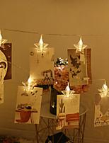 Недорогие -3M Гирлянды 20 светодиоды Тёплый белый / Белый / Красный Творчество / Для вечеринок / Декоративная Аккумуляторы AA 1шт