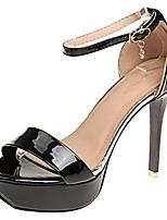 Недорогие -Жен. Полиуретан Весна Минимализм Обувь на каблуках На шпильке Белый / Черный / Розовый