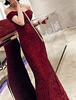 Недорогие -Жен. Для вечеринок Оболочка Платье С открытыми плечами Макси / Сексуальные платья