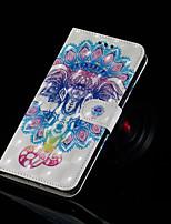 Недорогие -Кейс для Назначение SSamsung Galaxy Galaxy S10 Plus / Galaxy S10 E Кошелек / Бумажник для карт / со стендом Чехол Слон Твердый Кожа PU для S9 / S9 Plus / S8 Plus