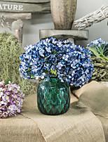 Недорогие -Искусственные Цветы 3 Филиал Классический Современный современный европейский Гортензии Вечные цветы Букеты на стол