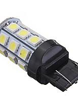 Недорогие -1pcs T20 (7440,7443) Автомобиль Лампы 5 W SMD 5050 300 lm 27 Светодиодная лампа Лампа поворотного сигнала / Задний свет / Боковые габаритные огни Назначение Все года