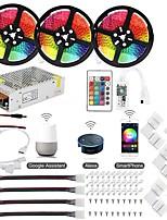 Недорогие -KWB 3x5M Интеллектуальные огни 900 светодиоды SMD5050 1 пульт дистанционного управления 24Keys / 1 монтажный кронштейн RGB Водонепроницаемый / Контроль APP / Можно резать 100-240 V 1 комплект
