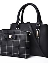 cheap -Women's Zipper PU Bag Set Solid Color 2 Pieces Purse Set Black / Purple / Blue