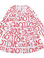 Недорогие -Дети (1-4 лет) Девочки Классический Буквы С принтом Длинный рукав Выше колена Полиэстер Платье Розовый