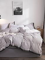 Недорогие -Пододеяльник наборы Stripes / Рябь Полиэстер С принтом 4 предметаBedding Sets