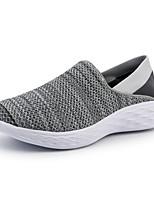 Недорогие -Муж. Комфортная обувь Сетка Осень / Весна лето На каждый день Мокасины и Свитер Для прогулок Дышащий Черный / Серый
