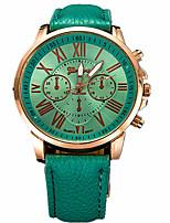 Недорогие -Жен. Спортивные часы Нарядные часы Наручные часы Кварцевый Кожа Черный / Белый / Синий Повседневные часы Аналоговый На каждый день Мода - Коричневый Синий Темно-зеленый Один год Срок службы батареи