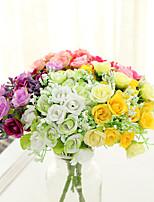 Недорогие -Искусственные Цветы 5 Филиал Классический Простой стиль Свадебные цветы Розы Вечные цветы Букеты на стол