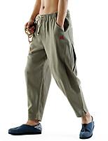 Недорогие -Муж. Гарем Сплетенные брюки Зеленый Хаки Темно-синий Виды спорта Сплошной цвет Брюки Нижняя часть Спорт в свободное время Бег Фитнес Большие размеры Спортивная одежда Легкость Дышащий Быстровысыхающий