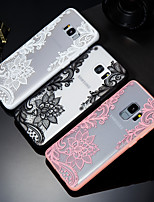 Недорогие -Кейс для Назначение SSamsung Galaxy S9 / S9 Plus / S8 Рельефный / С узором Кейс на заднюю панель Кружева Печать Твердый ПК