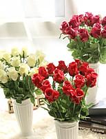 Недорогие -Искусственные Цветы 1 Филиал Односпальный комплект (Ш 150 x Д 200 см) Современный современный Пастораль Стиль Розы Букеты на стол