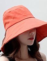 Недорогие -Жен. Симпатичные Стиль Широкополая шляпа / Шляпа от солнца Контрастных цветов