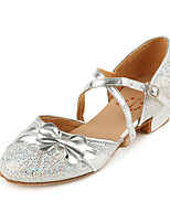 Недорогие -Девочки Обувь для модерна Полиуретан На каблуках Толстая каблук Танцевальная обувь Серебряный / Пурпурный / Розовый