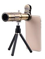 Недорогие -Объектив для мобильного телефона Длиннофокусный объектив стекло / Пластиковые & Металл / Алюминиевый сплав 20X Макро 35 mm 3 m 13 ° Линза / объектив со стендом / Творчество / Новый дизайн