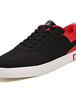 Недорогие -Муж. Комфортная обувь Полиуретан Весна На каждый день Кеды Нескользкий Контрастных цветов Черно-белый / Черный / Красный