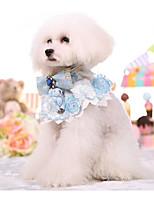 Недорогие -Собаки Коты Ошейники Складной Животное Кружево Искусственная кожа / Полиуретановая кожа Синий Розовый