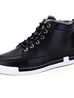 Недорогие -Муж. Комфортная обувь Полиуретан Зима Кеды Черный / Серый / Коричневый