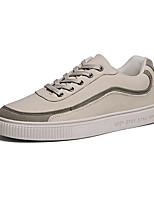 Недорогие -Муж. Комфортная обувь Полотно / Полиуретан Весна На каждый день Кеды Нескользкий Контрастных цветов Черный / Бежевый / Серый