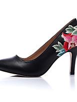 Недорогие -Жен. Наппа Leather Весна лето Обувь на каблуках На шпильке Черный и золотой / Черный / Красный