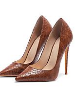 Недорогие -Жен. Кожа Весна лето Деловые Обувь на каблуках На шпильке Заостренный носок Коричневый / Светло-Розовый / Темно-коричневый